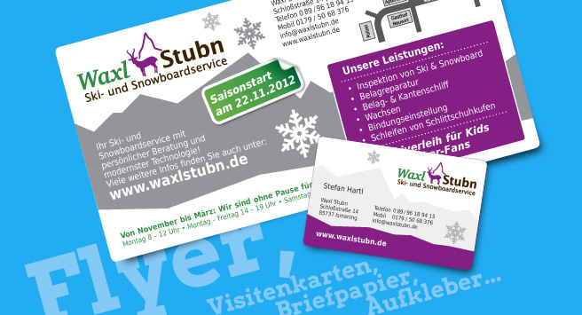Printdesign, Flyer, Visitenkarten, Briefpapier